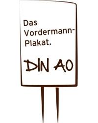 Vordermann-Plakat DIN A0