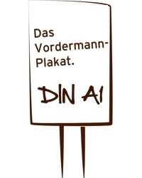 Vordermann-Plakat DIN A1